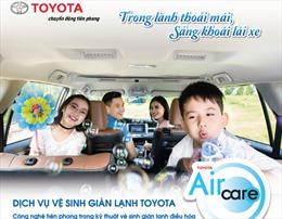 10.000 lượt xe Toyota được vệ sinh giàn lạnh chính hãng