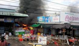 40 ki ốt bị thiêu rụi tại chợ Cửa khẩu Tân Thanh