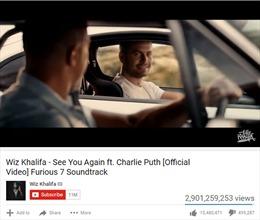 'See you again' nhiều lượt xem nhất Youtube, 'Despacito' nhăm nhe xô đổ