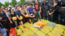 Indonesia thu giữ 1 tấn ma túy đá vận chuyển từ Trung Quốc