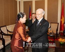Tổng Bí thư Nguyễn Phú Trọng: Phát triển bền vững tình đoàn kết Campuchia - Việt Nam