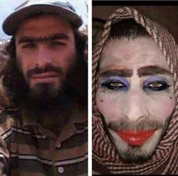 Phiến quân IS tô son, trát phấn giả gái vẫn bị quân đội Iraq bắt vì... quên cạo râu