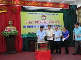 Bắc Ninh quyên góp ủng hộ đồng bào các tỉnh Tây Bắc bị mưa lũ