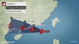 Trung Quốc ra cảnh báo cam về bão Hato