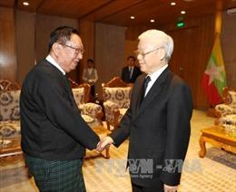 Tổng Bí thư tiếp lãnh đạo Đảng cầm quyền Myanmar
