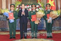 Chủ tịch nước trao Quyết định thăng quân hàm cho các sĩ quan cấp cao của Quân đội