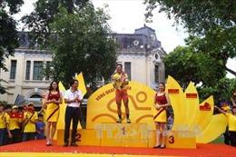 Lê Nguyệt Minh nhất chặng đầu tiên Giải xe đạp Quốc tế VTV Cúp Tôn Hoa Sen 2017