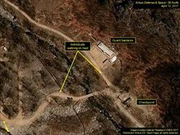 Ngọn núi ở khu vực Triều Tiên thử hạt nhân có nguy cơ đổ sụp