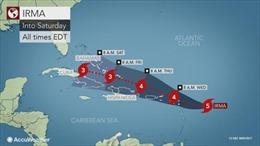 Mỹ chuẩn bị đón siêu bão Irma đã mạnh lên cấp 5