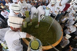 Món bơ nghiền thập cẩm lập kỷ lục Guinness mới