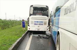 9 xe ô tô đâm liên hoàn trên cao tốc Hà Nội - Thái Nguyên
