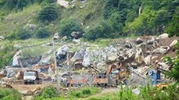 Nhiều sai phạm trong hoạt động khai thác đá trên núi Bà Đen
