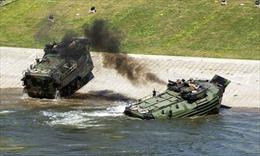Cháy xe thiết giáp đổ bộ, 15 lính thuỷ quân lục chiến Mỹ bị thương