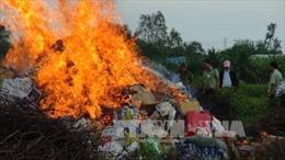 Trà Vinh tiêu hủy hơn 55.000 bao thuốc lá điếu nhập lậu