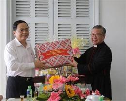 Chủ tịch Ủy ban Trung ương MTTQ Việt Nam Trần Thanh Mẫn thăm các cơ sở tôn giáo tại Cần Thơ