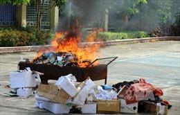 Sơn La tiêu hủy hàng chục kg heroin tang vật của 23 vụ án
