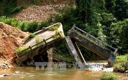 Tuyên Quang: Cần sớm sửa chữa cầu Bản bị gãy do mưa lũ