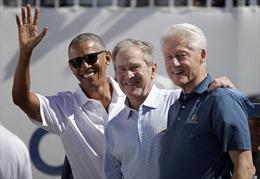 Ba cựu Tổng thống Mỹ rủ nhau dự giải golf, không có ông Trump