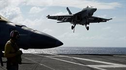 Máy bay Trung Quốc bám sát siêu tàu sân bay Mỹ vừa tập trận trên Biển Đông