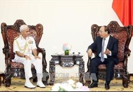 Thủ tướng tiếp Chủ tịch Uỷ ban Tham mưu trưởng kiêm Tư lệnh Hải quân Ấn Độ