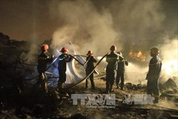TP Hồ Chí Minh: Cháy lớn tại xưởng sản xuất nhựa, thiệt hại 3 tỷ đồng
