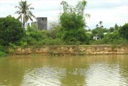 Cần sớm xử lý tình trạng sạt lở bờ sông Cái ở Khánh Vĩnh
