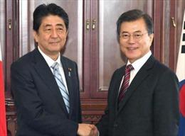 Lãnh đạo Hàn Quốc, Nhật Bản nhất trí thúc đẩy giải quyết vấn đề hạt nhân Triều Tiên