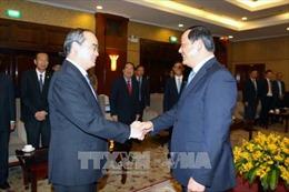 Bí thư Thành ủy Thành phố Hồ Chí Minh tiếp Phó Thủ tướng Chính phủ Lào