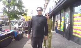 Ông 'Kim Jong-un' thong thả tản bộ tại New York, thăm Tháp Trump
