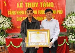 Tổ chức Lễ truy tặng Bằng khen của Thủ tướng Chính phủ cho nhà báo Đinh Hữu Dư