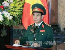 Thượng tướng Phan Văn Giang tiếp Tư lệnh Hải quân Hoàng gia Campuchia