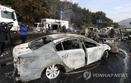 Tai nạn xe chở dầu ở Hàn Quốc khiến nhiều người thương vong
