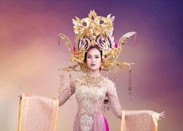 Trang phục dân tộc dự thi Miss Globe của Khánh Ngân lấy cảm hứng từ vẻ đẹp Nam Phương Hoàng hậu