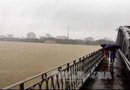 Thừa Thiên - Huế mưa to, nước sông Hương lên nhanh sắp vượt báo động 3