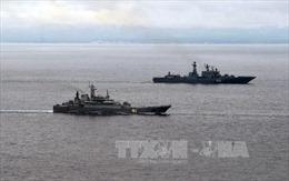 Hạm đội Baltic của Nga tập trận bắn đạn thật