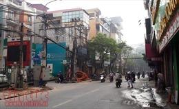 Hạ ngầm các tuyến cáp điện, viễn thông tại Hà Nội đều chậm tiến độ