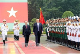 Hình ảnh Lễ đón Tổng thống Hợp chúng quốc Hoa Kỳ Donald Trump thăm Việt Nam