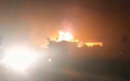 Cháy rụi cây xăng tại Đắk Lắk, một người bị bỏng nặng