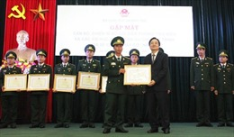 Gặp mặt 60 chiến sĩ mang quân hàm xanh gắn bó với sự nghiệp giáo dục