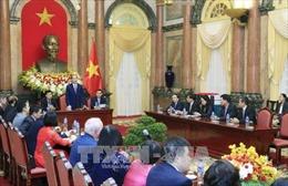 Chủ tịch nước Trần Đại Quang tiếp các nhà tài trợ Tuần lễ Cấp cao APEC 2017
