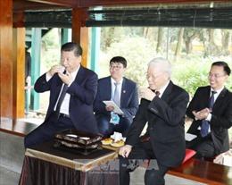 Tổng Bí thư Nguyễn Phú Trọng dự tiệc trà cùng Tổng Bí thư, Chủ tịch Trung Quốc Tập Cận Bình