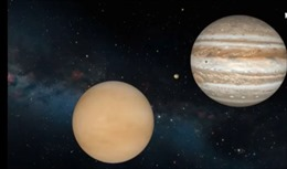 Cuộc giao hội trong vũ trụ giữa sao Kim và sao Mộc