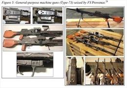 Pháp thu giữ lô súng máy Triều Tiên buôn lậu tới Somalia