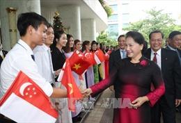 Chủ tịch Quốc hội Nguyễn Thị Kim Ngân bắt đầu thăm chính thức Singapore