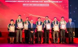 Acecook Việt Nam trong Top 10 ngành Thực phẩm – Đồ uống 2017