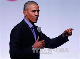 Cựu Tổng thống Obama thúc đẩy kế hoạch gây quỹ cùng Thượng nghị sĩ Kamala Harris