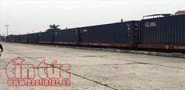 Đón chuyến tàu container chuyên tuyến đầu tiên Việt Nam - Trung Quốc