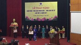 Bộ Y tế trao tặng danh hiệu nhà giáo nhân dân, nhà giáo ưu tú