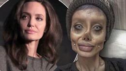Cô gái trẻ cố bắt chước Angelina Jolie nhưng lại giống 'xác sống'