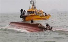 Tàu hàng Nhật Bản bị lật sau va chạm với tàu nước ngoài